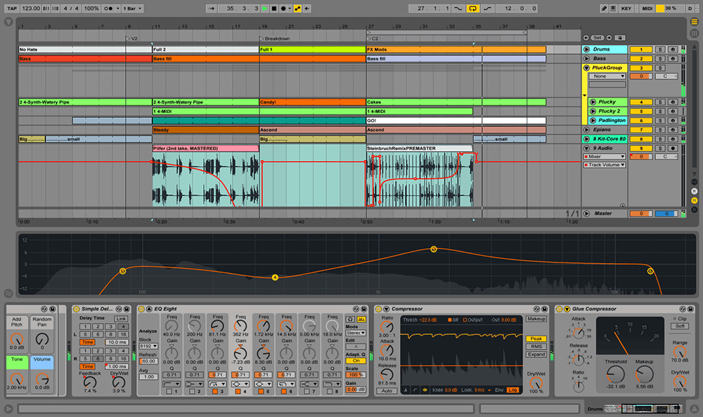 Ableton Live gives you access to a wealth of audio tracks