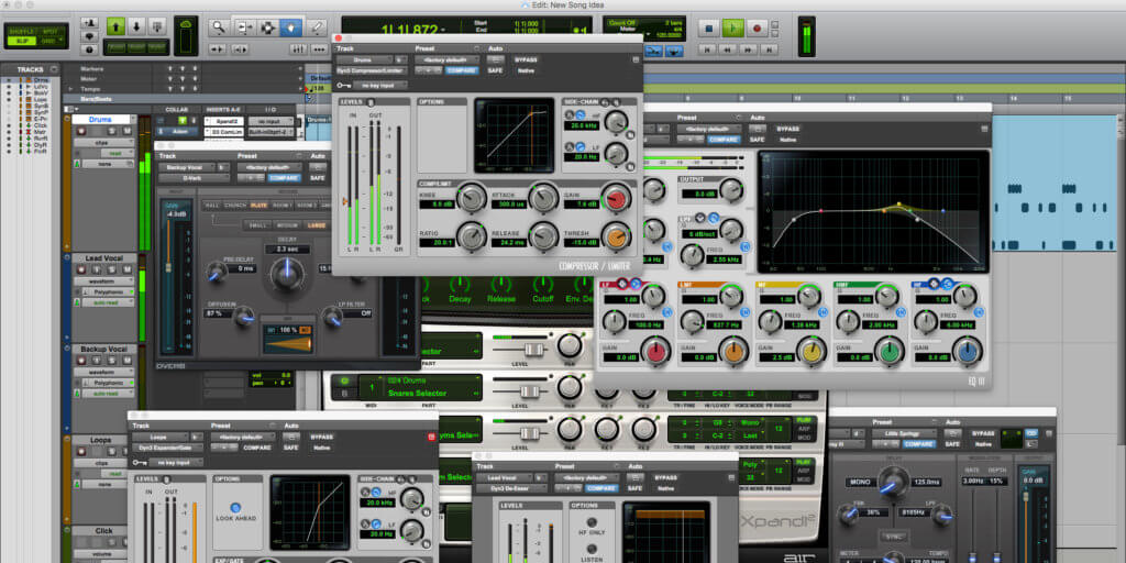 Avid Pro Tools lets you use several industry-leading music production tools