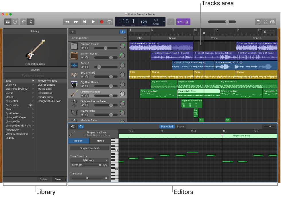 Garageband is the default music production program created by Apple to produce music