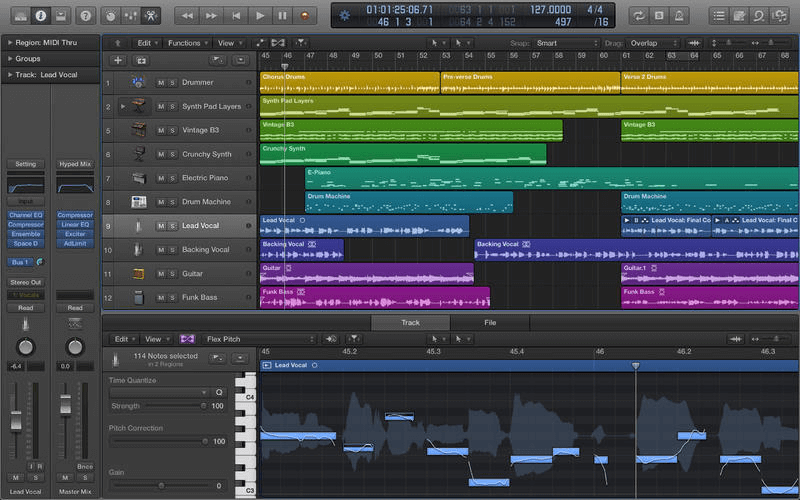 Logic Pro X is only available for Mac