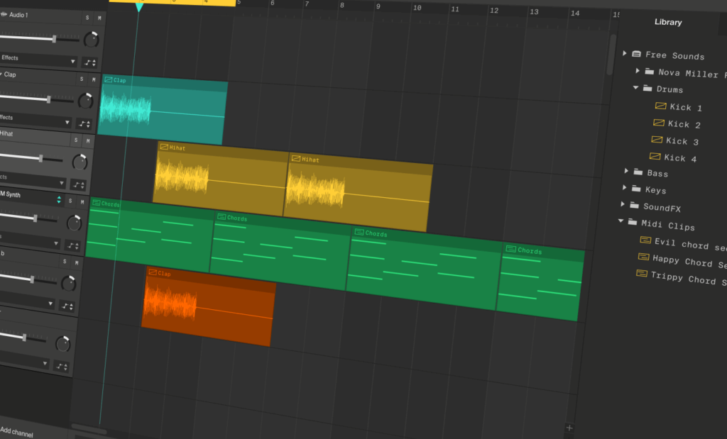 Soundation is probably the best free multi-track editing tool out there